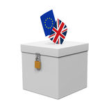 Brexit Referendum Illustration Stock Image