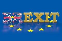 Brexit referendum pojęcie ilustracji