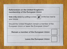 Brexit referendum in UK Royalty Free Stock Images