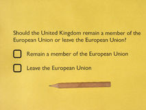 Brexit referendum in UK Stock Photography