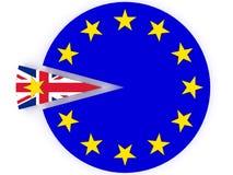 Brexit - Reino Unido sale de la unión europea - 3D rinden Fotografía de archivo libre de regalías
