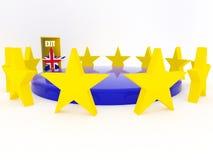 Brexit - Reino Unido sale de la unión europea - 3D rinden Imagen de archivo