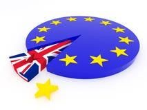 Brexit - Reino Unido sale de la unión europea - 3D rinden Fotos de archivo
