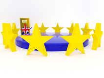Brexit - Reino Unido sale de la unión europea - 3D rinden Fotografía de archivo