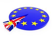 Brexit - Reino Unido sale de la unión europea - 3D rinden Imagen de archivo libre de regalías