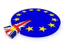Brexit - Reino Unido sale de la unión europea - 3D rinden Fotos de archivo libres de regalías