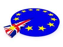 Brexit - Reino Unido sale de la unión europea - 3D rinden Imagenes de archivo