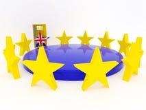 Brexit - Reino Unido sale de la unión europea - 3D rinden Imágenes de archivo libres de regalías