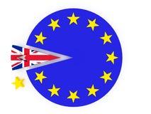 Brexit - Reino Unido sale de la unión europea - 3D rinden Foto de archivo