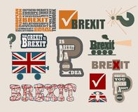 Brexit relative design elements Stock Photography