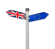 Brexit riktningstecken Arkivfoto