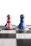 Brexit schackbegrepp Royaltyfri Foto