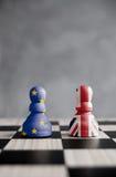 Brexit schackbegrepp Arkivbilder