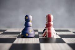 Brexit schackbegrepp Royaltyfria Bilder