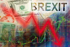 Brexit sell on fact stock images