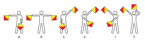 Brexit Semaphore Stock Photo