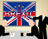 Brexit Seminar Means UK Voting Seminars And Presentation Stock Image