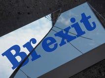 Brexit splittrade exponeringsglas Royaltyfria Foton