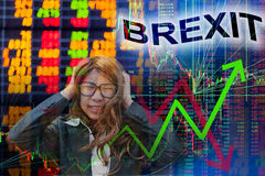 Brexit in stock chart Royalty Free Stock Image
