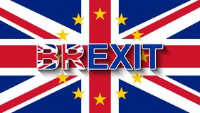 BREXIT su Union Jack con la corona delle stelle dell'UE - ritiro BRITANNICO dall'UE illustrazione vettoriale