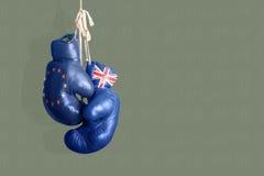 Brexit symbol av folkomröstningen UK vs EU Arkivfoton