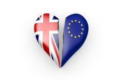 Brexit, Symbool van het Referendum het UK versus de EU stock foto