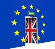 Brexit-Tür-Illustration Stockfoto