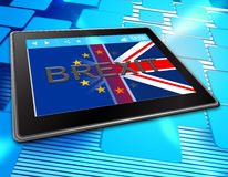 Brexit Tablet Shows Britain Web Www And Eu Stock Photography