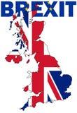 Brexit tekst z UK mapą Obraz Royalty Free