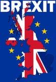 Brexit tekst z UK mapą Obrazy Royalty Free