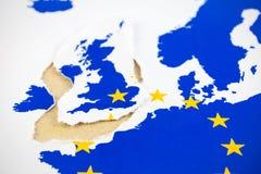 Brexit, terugtrekking van het UK van de EU stock fotografie
