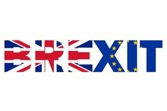 Brexit text Royaltyfria Bilder