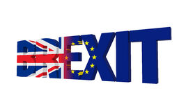 Brexit Text Isolated Royalty Free Stock Photos