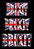 Brexit text uk flag vector symbol icon design. Beautiful illustr Stock Photos