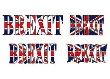 Brexit text uk flag vector symbol icon design. Beautiful illustr Royalty Free Stock Images
