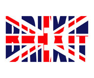 Brexit text uk flag vector symbol icon design. Beautiful illustr Royalty Free Stock Photo