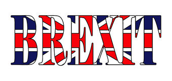 Brexit text uk flag vector symbol icon design. Beautiful illustr Stock Image