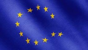 Brexit, a UE embandeira é uma estrela de queda video estoque