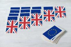 Brexit UE UK referendum pasjans zbiega się pojęcie, zamknięty u zdjęcie stock
