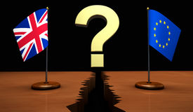 Brexit UK EU Question Mark Concept Stock Images