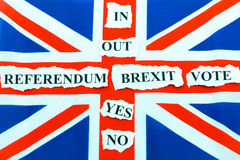 Brexit UK EU referendum Royalty Free Stock Images