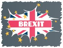Brexit - UK exit from the European Union EU. The concept of the collapse of the EU in the event of a UK. Vector royalty free illustration