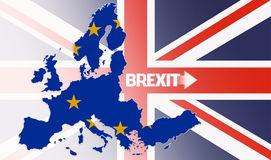 Brexit, United Kingdom and Europe Union jigsaw puzzle Stock Image