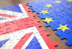 Brexit United Kingdom European Union Puzzle Pieces stock photography
