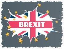 Brexit - uscita BRITANNICA dall'Unione Europea UE Il concetto del crollo dell'UE in caso di Regno Unito Vettore royalty illustrazione gratis