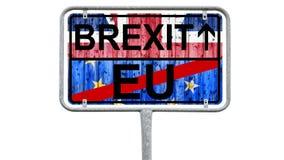 Brexit - Verkeersteken het Verenigd Koninkrijk, Europese Unie - op Wit royalty-vrije stock fotografie