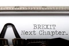 Brexit volgende hoofdstuk stock foto