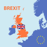Brexit vote out from europe union Royalty Free Stock Photography