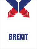 Brexitbanners Stock Foto