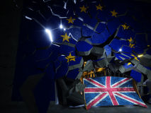 Brexitconcept het 3d teruggeven Stock Afbeelding